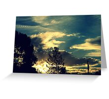 Sunset In The Suburb Greeting Card