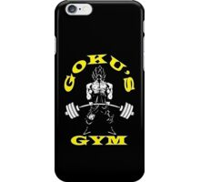 Goku's Gym (White and Yellow Logo) iPhone Case/Skin