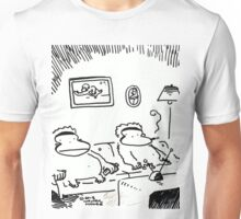 Couch Potato Apes Unisex T-Shirt
