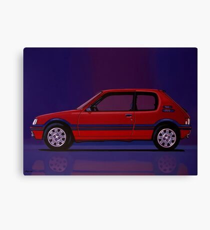 Peugeot 205 GTI Painting Canvas Print