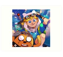 Adventure time with Finn and Jake Art Print