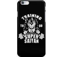 Training To Go Super Saiyan (Vegeta) iPhone Case/Skin