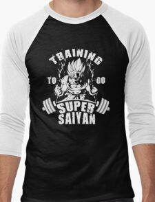 Training To Go Super Saiyan (Goku) Men's Baseball ¾ T-Shirt