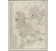 Vintage Map of Camden NJ (1921) Photographic Print