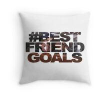 #bestfriendgoals little rascals edition Throw Pillow