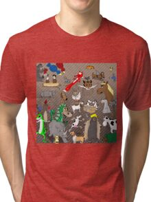 Out to Lunch Animals Collection Tri-blend T-Shirt