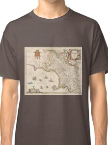 Vintage Map of Campania Italy (1662) Classic T-Shirt
