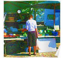RainbowConfetti Farmers Market Shopper Poster