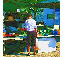 RainbowConfetti Farmers Market Shopper Photographic Print