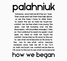 How we began (Black lyrics) Unisex T-Shirt