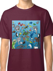 Out to Lunch Sea Animals Collection Classic T-Shirt