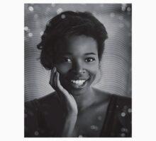 Trisha BW Portrait  Kids Tee