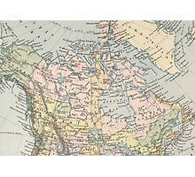 Vintage Map of Canada (1892) Photographic Print