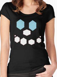 happy hexagons Women's Fitted Scoop T-Shirt