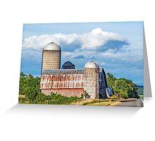 Rural New York Barn Greeting Card