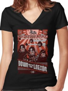 Down with the Legion Women's Fitted V-Neck T-Shirt