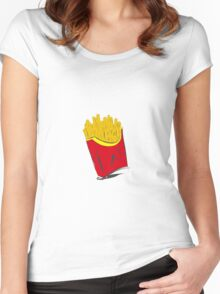 Fries chips Women's Fitted Scoop T-Shirt