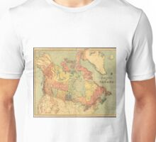 Vintage Map of Canada (1898) Unisex T-Shirt