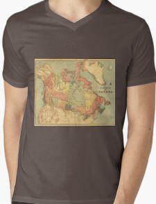 Vintage Map of Canada (1898) Mens V-Neck T-Shirt