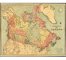 Vintage Map of Canada (1898) Photographic Print
