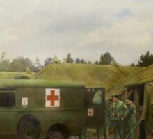 Doctor - 1942 - Camp Sibert - Transferring the patient Sticker