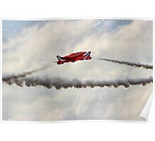 Red Arrows Synchro Pair - Farnborough 2014 Poster