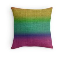Natural Woven Ombre Shaded  Bright Rainbow Colors Burlap Sack Cloth Throw Pillow