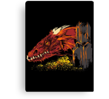 Into the abode the Dragon Canvas Print