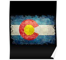 Flag of Colorado in vintage retro style Poster