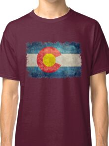 Flag of Colorado in vintage retro style Classic T-Shirt
