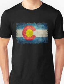 Flag of Colorado in vintage retro style Unisex T-Shirt