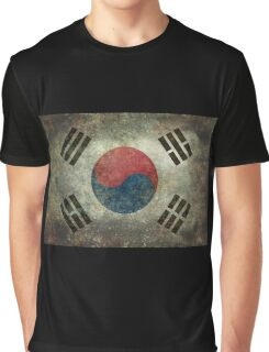 Flag of South Korea, vintage retro style Graphic T-Shirt