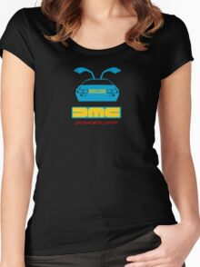 Retro Delorean Women's Fitted Scoop T-Shirt