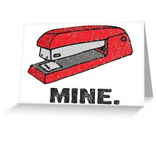 Vintage Red Stapler Greeting Card