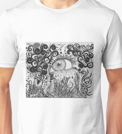Pouring Rain on an Open Flame Unisex T-Shirt
