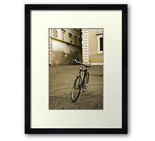 lonely bicycle Framed Print