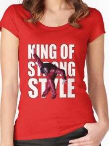 Shinsuke Nakamura - The King of Strong Style Women's Fitted Scoop T-Shirt