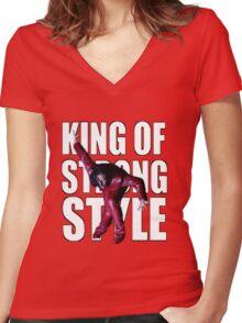Shinsuke Nakamura - The King of Strong Style Women's Fitted V-Neck T-Shirt