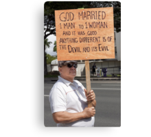 Defender of Traditional Marriage .5 Canvas Print