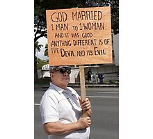 Defender of Traditional Marriage .5 Photographic Print