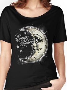 Happy Moon Creep Heart Women's Relaxed Fit T-Shirt