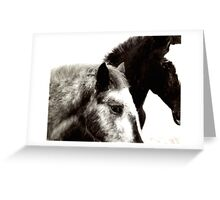 wild faces Greeting Card
