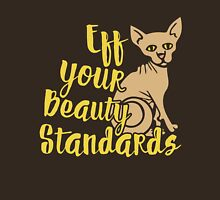 EFF your beauty standards Womens Fitted T-Shirt