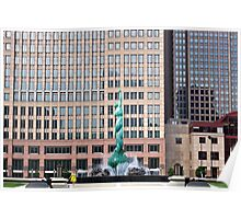 Fountain of Eternal Life Downtown Cleveland Poster