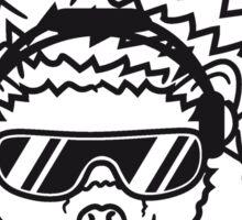 schild dj party mischpult disko club sonnenbrille cool kopfhörer funky auflegen musik tanzen comic cartoon süßer kleiner niedlicher igel  Sticker