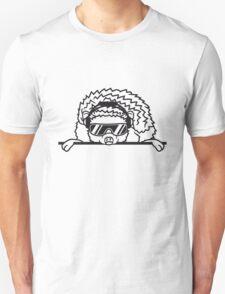 schild dj party mischpult disko club sonnenbrille cool kopfhörer funky auflegen musik tanzen comic cartoon süßer kleiner niedlicher igel  Unisex T-Shirt
