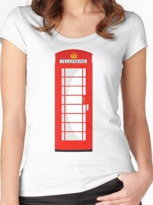 London Telephone 2 Women's Fitted Scoop T-Shirt
