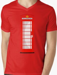 London Telephone 2 Mens V-Neck T-Shirt