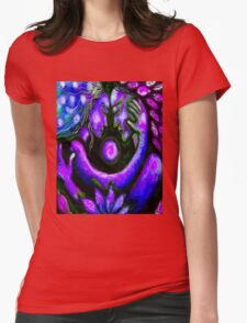 """PSYCHEDELIC COUPLE EMBRACING"" Abstract Print Womens Fitted T-Shirt"