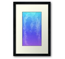 Blue/Purple Ombre Polygons Framed Print